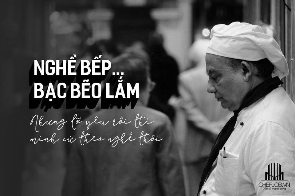Một nội dung hướng đến người làm nghề đầu bếp