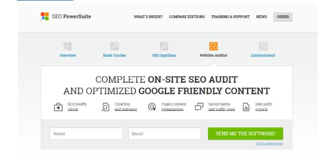 Website Auditor của SEO PowerSuite