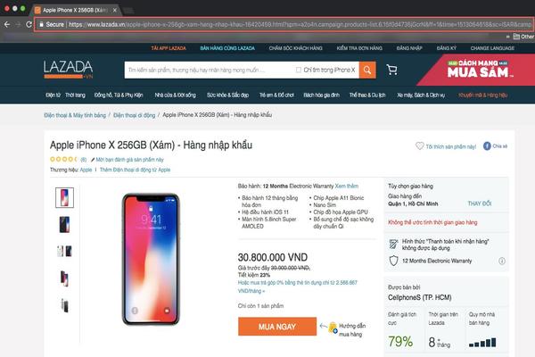 Đường link gốc của sản phẩm Iphone X