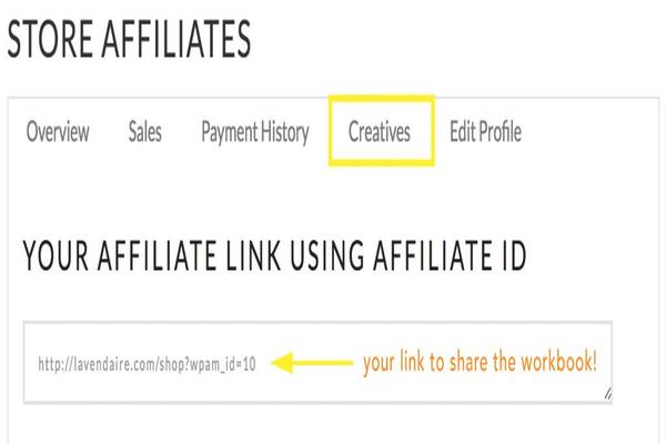 Ví dụ mẫu Affiliate ID