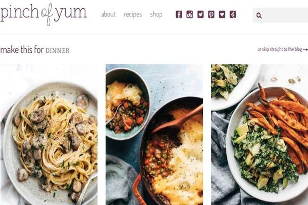 Blog của Pinch of Yum