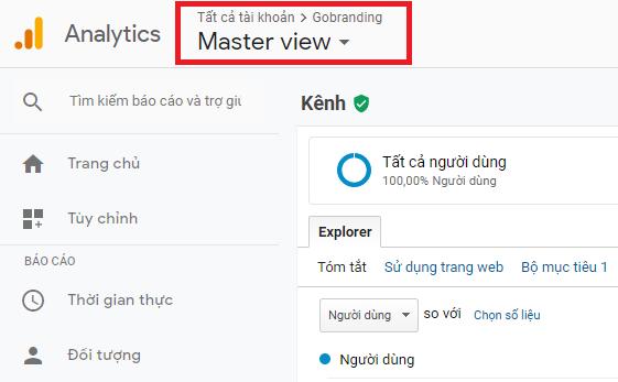 Giao diện Master View giúp người dùng loại bỏ các truy cập không mong muốn.