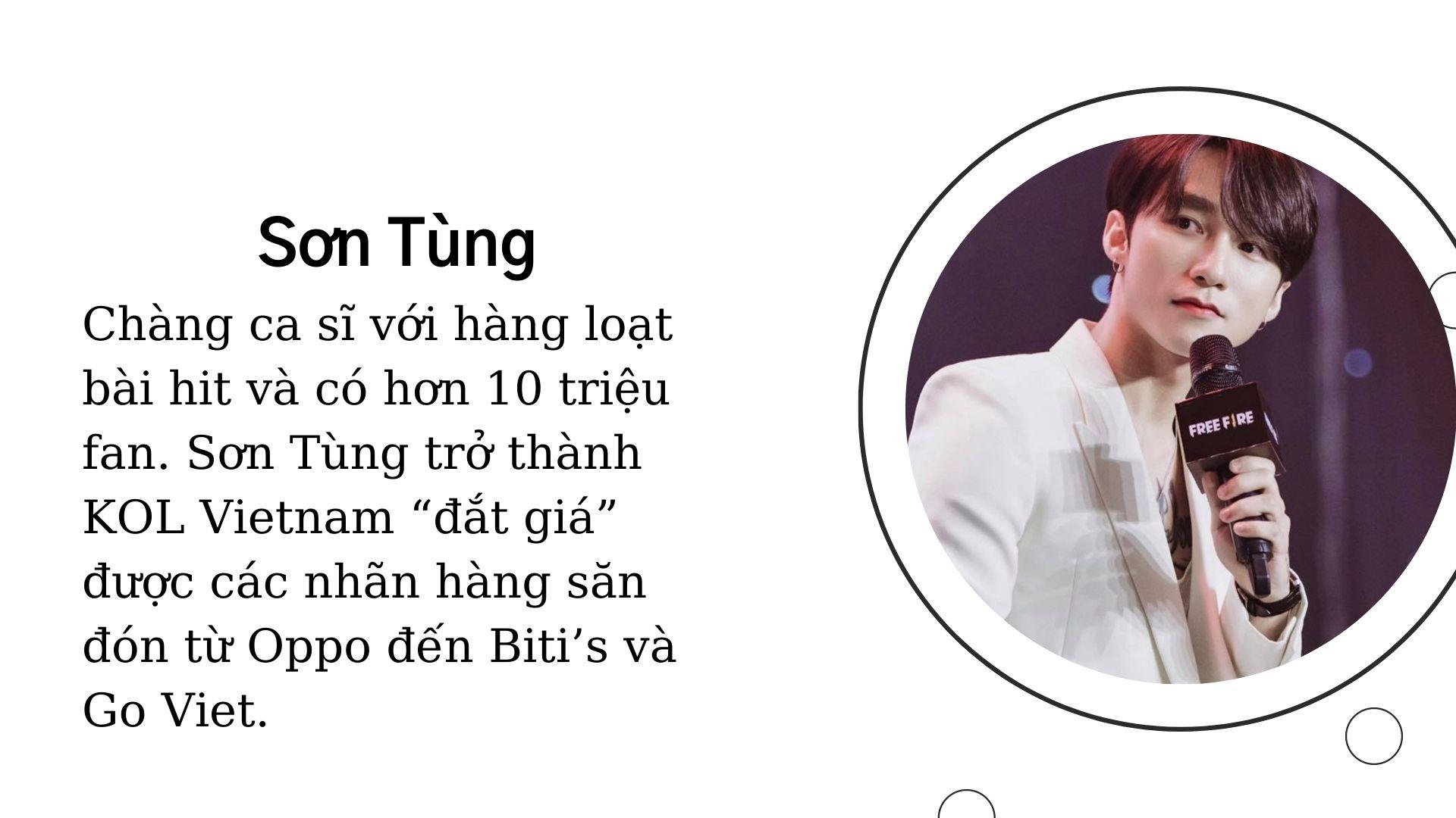KOL Sơn Tùng