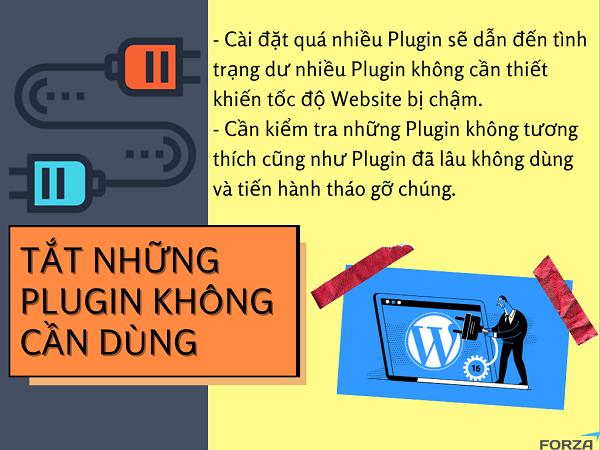 Tốc độ Website có thể bị ảnh hưởng bởi có quá nhiều Plugin không cần dùng.