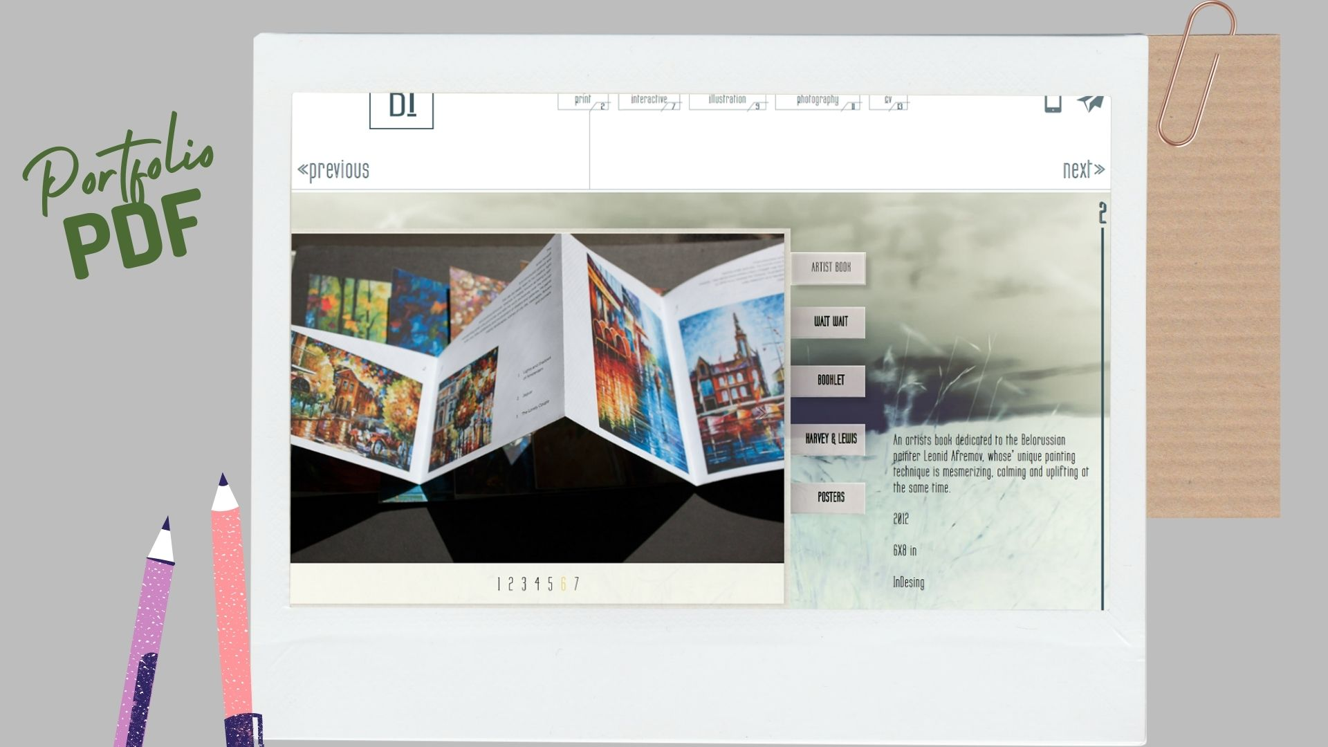 Portfolio bản in PDF.